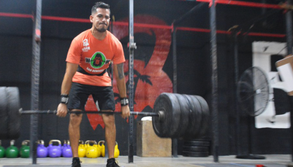 Head Coach Dany Miranda in Bahia Crossfit Deadlift
