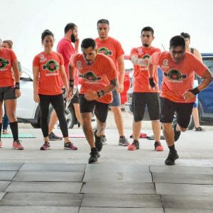 Team Running in CrossFit Gym Puerto Vallarta