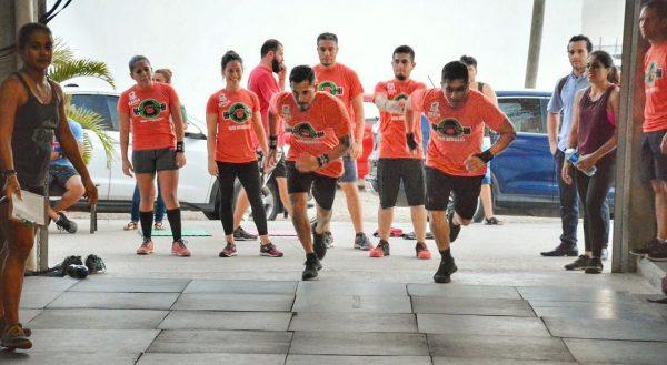 Team Running in CrossFit Gym Puerto Vallarta