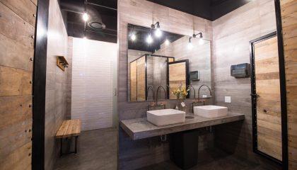 bathroom wide angle bahia crossfit puerto vallarta